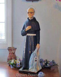 "25"" ST. MAXIMILIAN KOLBE PLASTER STATUE Patron of Difficult Times *IMPORTED* New"