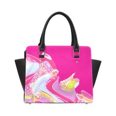 Pink Lemonade Waves Classic Shoulder Handbag (Model 1653)