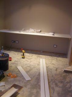 diy floating desk diy home. Wall To Floating Desk. Diy Desk Home B