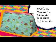 NECESSAIRE para MAQUIAGEM ( Parte 2) - Como Fazer - Passo a Passo - Segredos de Aline - YouTube Sewing Art, Sewing Crafts, Sewing Projects, Sew Wallet, Zipper Pouch Tutorial, Fabric Bags, My Bags, Diy And Crafts, Coin Purse