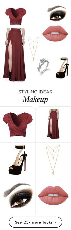 """Pezzi 93"" by marianavargas13-4 on Polyvore featuring Sandra Weil, Prada, Forever 21 and Lime Crime"