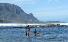 My Kids Paddleboarding Family in Hanalei Bay Kauai (Jennifer Miner)