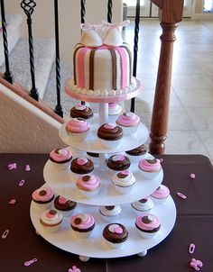 babyshower baby shower cupcake tower