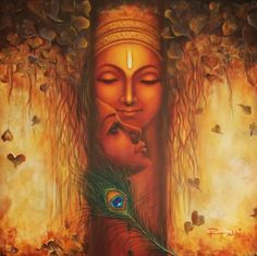 By Reena kapoor Krishna Leela, Krishna Love, Krishna Radha, Lord Krishna, Hanuman, Baby Krishna, Durga, Ganesha Painting, Buddha Painting