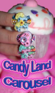 Candyland Carousel 7D by BellaGemaNails
