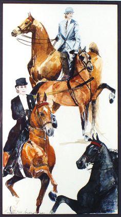SADDLEBREDS AND HACKNEY by Linda M. Lowery   American Saddlebred Museum 2006 Auction