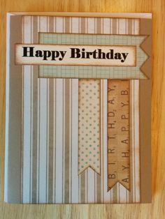 Happy Birthday Banner Card by Cindysnoopy on Etsy, $3.50