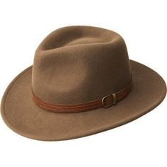 """The Barrens Felt Hat is designed with a clean, yet rugged outback look. With one of Bailey Western's most popular outback crowns, the 2 7/8"""" brim sports a matching outback-style curve. A strapping leather band and gleaming buckle complete"""