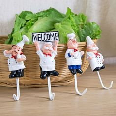 Cartoon Chef Hanger //Price: $9.95 & FREE Shipping //     #housedecoration