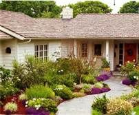 Attractive Front Yard Landscaping Ideas Without Grass No Grass Landscaping Home . - Attractive Front Yard Landscaping Ideas Without Grass No Grass Landscaping Home Interior Design Ideas Front Yard Walkway, Front Yards, Front Path, Front Yard Design, Xeriscaping, Garden Landscape Design, Landscape Curbing, House Landscape, Landscape Designs