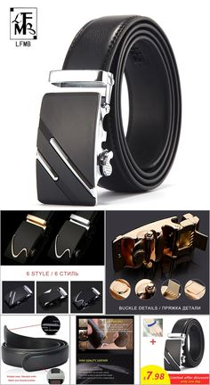 20641208830  LFMB Famous Brand Belt Men Top Quality Genuine Luxury Leather Belts for  Men