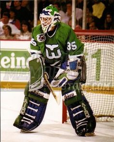 Hockey Goalie, Ice Hockey, Nhl, Hartford Whalers, Hockey Rules, Goalie Mask, Cool Masks, Vintage Football, National Hockey League