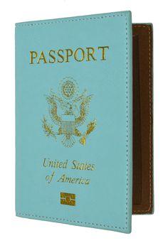 Soft Leather USA Logo Passport Cover Holder