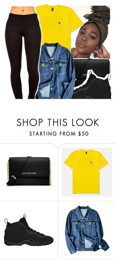 """W A I T "" by yourmajestytaay ❤ liked on Polyvore featuring MICHAEL Michael Kors and NIKE"