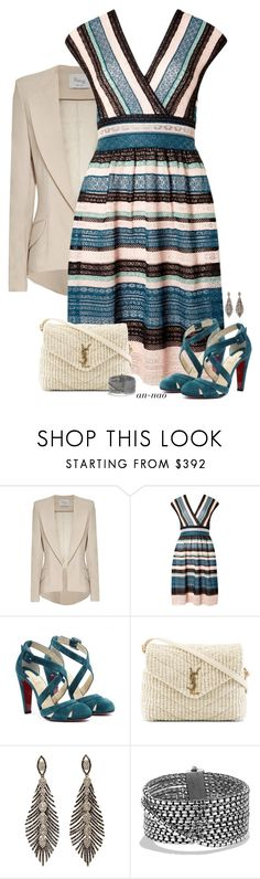 """""""AN #73"""" by an-nao ❤ liked on Polyvore featuring Hebe Studio, M Missoni, Amazonia, Yves Saint Laurent and David Yurman"""