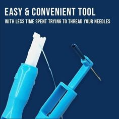 Easy Sewing Machine Needle is a double function needle threader that can insert the needle into sewing machine and threading into the needle. It is easy to use Sewing Tools, Sewing Hacks, Sewing Tutorials, Sewing Patterns, Sewing Lessons, Wood Patterns, Threading Machine, Sewing Machine Thread, Sewing Needles