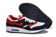 UK Market - Nike Air Max 1 Mens White Black Red Trainers