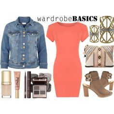 Street Style Chic - Coral & Denim