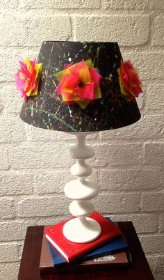 Splatter Paint & Neon Lampshade by CleverMakings on Etsy, €32.00