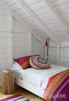 That'd be a very cheery guest loft.  Storybook Cottages | House & Home