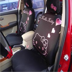 10pcs Universal Car seat Cover Pink Heart Cartoon Universal Hello Kitty Car Seat Covers Universal Car interior Accessories //Price: $194.70 & FREE Shipping //     #hashtag3