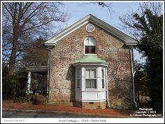 ANNAPOLIS, MD:  A street view of the Scott Cottage, c. 1765, in the Annapolis Maryland Historic District. Photograph posted on February 27th 2014. To see a full size version of this photograph as well as the accompanying Annapolis Experience Blog article please click through on the Pinterest images for it. Picture Copyright © 2014 G J Gibson Photography LLC  article Copyright © 2014 Annapolis