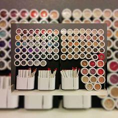 Colourpop cosmetics storage on magnetic board