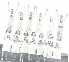 1940-41 Oregon cheerleaders.  From the 1941 Oregana (University of Oregon yearbook).  www.CampusAttic.com