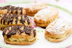 mini eclairs with vanilla pastry cream
