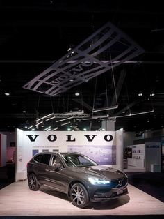 Retta by Karice, as photographed in the Volvo booth at IDS Vancouver Linear Lighting, Lighting Design, Light Architecture, Pendant Design, Volvo, Vancouver, Bespoke, Interiors, Led