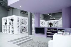 bicycles, bicycl store, bike shop, color, shops, product display, retail stores, barcelona spain, design