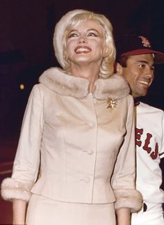 Making her final public appearance  at Dodgers Stadium on her 36th Birthday; June 1st,1962