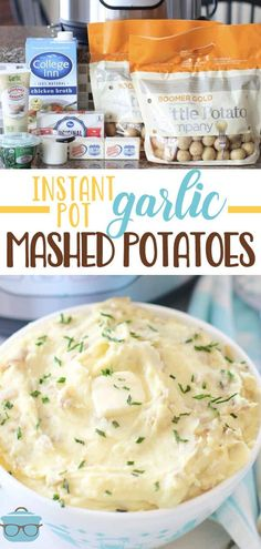 These Instant Pot Garlic Mashed Potatoes are so incredibly flavorful and easy to make! You don't even need to peel the potatoes first! Best Pressure Cooker Recipes, Instant Pot Pressure Cooker, Slow Cooker Recipes, Cooking Recipes, Pressure Cooking, Yummy Recipes, Recipies, Dinner Recipes, Yummy Food