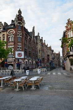 "visitheworld: ""Vrijdagmarkt urban architecture in Ghent / Belgium (by Mr.Dare). """