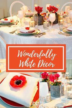 Wonderfully White Event Decor | BBJ Linen