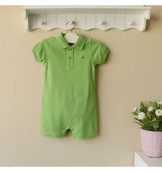 Mom and Bab Pique Jumpsuit - Green - sadinashop.com  Jumpsuit berbahan lacoste atau polo untuk bayi dan anak.