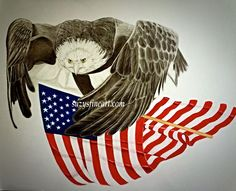 #eagle #flag #america  The first in the America Collection by Suzy Nesmith.  www.suzysfineart.com