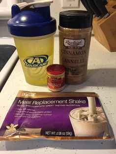 Advocare Taste of Fall Shake #breakfast 1 Advocare Vanilla Meal Replacement Shake 1/2 teaspoon of ground cinnamon Couple dashes of all spice Shake well! https://www.advocare.com/131023977/Store/ItemDetail.aspx?itemCode=T1211&id=A&flavor=A&size=