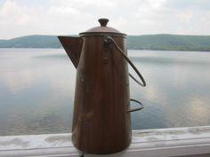 vintage camping coffee pot. Necessity.