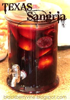 Texas Sangria  2 oranges  1 lemon  1 lime  1/2 c granulated sugar  1 standard bottle of pinot noir or merlot  10-12 oz club soda  Crushed ice     Cut all fruit into fourths.  Squeeze juices from fruits into container.  Add rinds and sugar.  Stir; pressing rinds w/wooden spoon to mix up.  Add wine and soda.  Serve over crushed ice.
