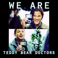 supernatural # dean winchester # sam winchester # teddy bear