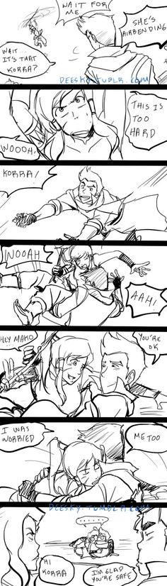makorra comic by KOKOROASAKURA.deviantart.com on @deviantART I love how Bolin and Asami are soo pissed!!! BUt I think they'd be sad, not pissed