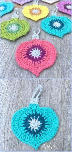 Crochet Christmas Vintage Ornament Free Pattern - Crochet Christmas Ornament Free Patterns