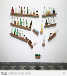 Awesome shelving for your booze