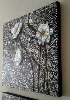White Poppies 2 Painting by Cherie Roe Dirksen Online Art Store, 3 Canvas Art, Resin Artwork, African Artists, Encaustic Art, Art Plastique, Beautiful Paintings, Painting Prints, Poppies