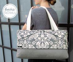 Stylin' Damask & Canvas Duffle: Fabric Depot