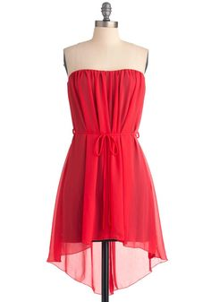 Number 6 red dress casual