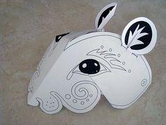Corinne Okada Design: Pied Piper Costume Workshop- rats mask