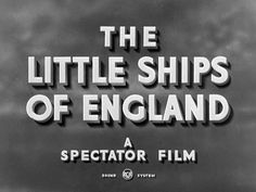 The Little Ships of England (1943) by British Council Film. A look at the traditional craft of wooden boatbuilding, and the important roles those little ships play.