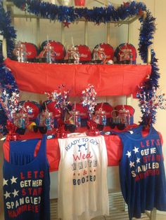 America Patriotic 4th of July Themed Bachelorette Party! 'Ready to get Wed White and Boozed' 'Lets get her Star Spangled Hammered'